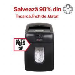 Distrugator Automat documente REXEL Auto+ 130X, 130 coli, P4, cross-cut (confeti)