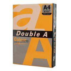 Hartie color pentru copiator  A4,  75g/mp,  25coli/top, Double A - portocaliu neon