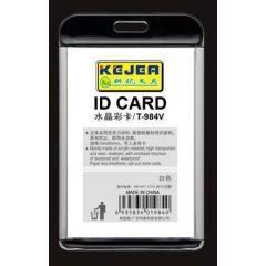 Suport PP-PVC rigid, pentru ID carduri, 74 x105mm, vertical, KEJEA -alb