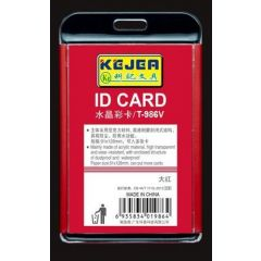 Suport PP-PVC rigid, pentru ID carduri, 105 x 74mm, orizontal, KEJEA - rosu