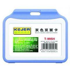 Suport PP tip flip, pentru carduri,  97 x  66mm, orizontal, 5 buc/set, KEJEA - albastru