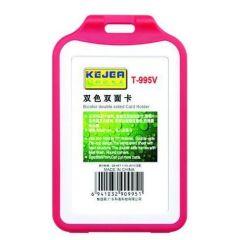 Suport PP tip flip, pentru carduri,  54 x  85mm, vertical, 5 buc/set, KEJEA - rosu