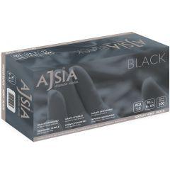Manusi nitril AJSIA Black, unica folosinta, nepudrate, 0.13mm, 100 buc/cutie - negre - marime L