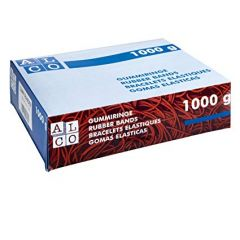 Elastice pentru bani, 1000g/cutie, D 200 x 6mm, ALCO