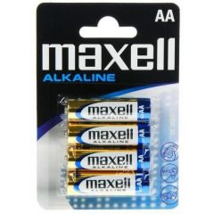 Baterii alkaline R6, AA,1.5V,4 buc/set  -  Maxell