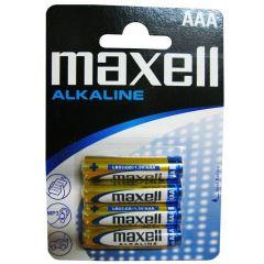 Baterii alkaline R3, AAA,1.5V,4 buc/set  - Maxell