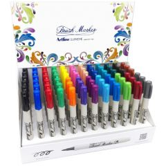 Display ARTLINE Supreme pentru colorat cu varf tip pensula , 72 buc/display