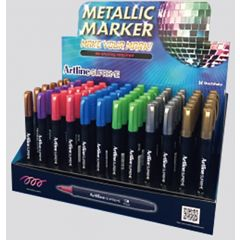 Display ARTLINE Supreme Metallic 1mm, 5 cul x 12 buc + 2 cul x 6 buc/display - diverse culori