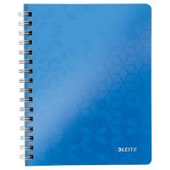 Caiet de birou LEITZ Wow, PP, A5, cu spira, dictando - albastru metalizat