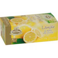 Ceai BELIN lamaie si alte fructe, 20 pliculete