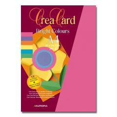 Carton color A4, 240g/mp - 12coli/set, AURORA Raphael -  6 culori intense