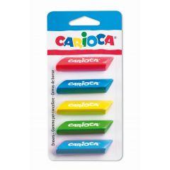 Radiere triunghiulare, 5 buc/blister, CARIOCA - diverse culori