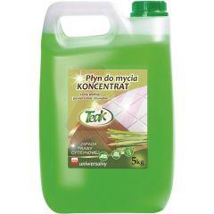 Detergent lichid universal, 5 litri, pentru toate tipurile de pardoseli, Teak - lemon gras - verde