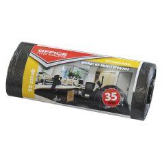 Saci menaj standard  35L, 48 x 56cm, 6.3 microni, 50buc/rola, Office Products - negri