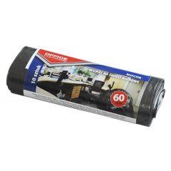 Saci menaj rezistenti  60L, 57 x 70cm, 19 microni, 10buc/rola, Office Products - negri