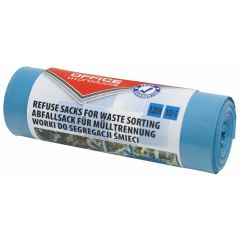 Saci menaj super rezistenti 120L, 10buc/rola, Office Products - albastri - pt. hartie