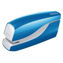 Capsator electric LEITZ WOW NeXXt Series, cu baterii, 10 coli, 1000 capse e1 incluse, albastru