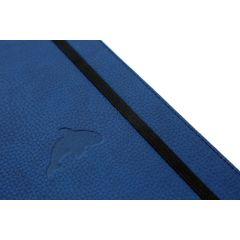 Caiet cu elastic, A5+, 96 file-100g/mp-cream, coperti rigide albastre, Dingbats Whale - cu puncte