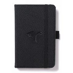 Caiet cu elastic, A6, 96 file-100g/mp-cream, coperti rigide negre, Dingbats Duck - cu puncte