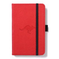Caiet cu elastic, A6, 96 file-100g/mp-cream, coperti rigide rosii, Dingbats Kangaroo - cu puncte