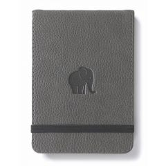 Blocnotes cu elastic, A6+, 96 file-100g/mp-cream, coperti rigide gri, Dingbats Elephant - dictando
