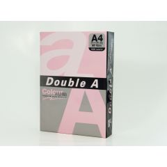 Hartie color pentru copiator  A4,  80g/mp,  25coli/top, Double A - pastel pink