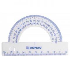Raportor 100mm, 180 grade, DONAU - transparent