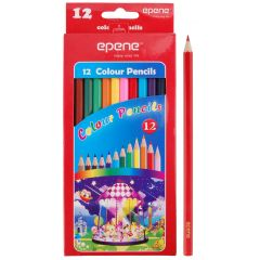 Creioane colorate, corp hexagonal, 12 culori/cutie, EPENE