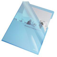 Mapa de protectie ESSELTE, A4, 150 mic, 25 buc/set, cristal, albastru