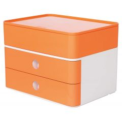 Suport cu 2 sertare + cutie ustensile HAN Allison Smart Box Plus - orange piersica