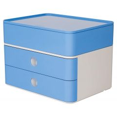 Suport cu 2 sertare + cutie ustensile HAN Allison Smart Box Plus - bleu sky