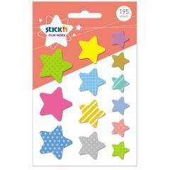 "Film index printat, autoadeziv, stele diferite marimi, 15 file x 13 modele/set, Stick""n Star"