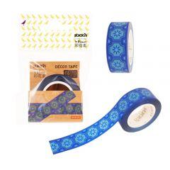"""Banda pentru decorat in rola, 16 mm x 10 m, Stick""""n - design albastru"""