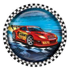 FARFURIE CARTON, DIAMETRU 23CM, SET 8 BUCATI, SUPER RACER