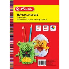 HARTIE COLOR A4 80GR TOP 100 DIVERSE CULORI
