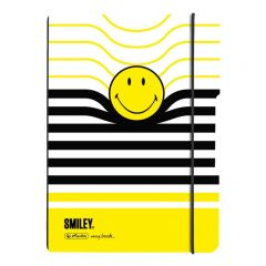 CAIET MY.BOOK FLEX A5 40F 80 GR PATRATELE COPERTA PP, SMILEY WORLD B Y STRIPES