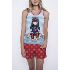 Pijama dama Gorjuss Little Fishes scurta