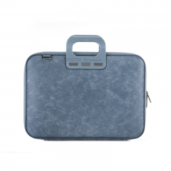 Geanta lux business laptop 15,6 Bombata Denim-BlueJeans