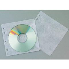 Plicuri plastic PP pentru 2 CD/DVD, 40 buc/set, Q-Connect