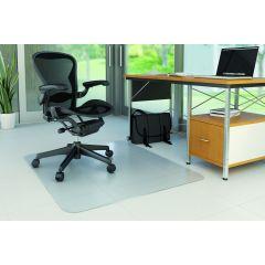 Covoras PVC transparent, protectie parchet/gresie, 150 x 120cm - forma dreptunghiulara, Q-Connect