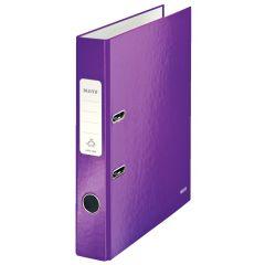 Biblioraft LEITZ 180 WOW, carton laminat, A4, 52 mm, mov