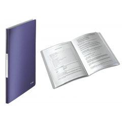Mapa LEITZ Style, de prezentare, plastic PP, 40 de folii  - albastru-violet