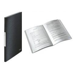 Mapa LEITZ Style, de prezentare, plastic PP, 40 de folii  - negru satin