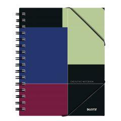 Caiet de birou LEITZ Executive Be Mobile, PP, A5, 80 coli, cu spira, matematica, negru-violet