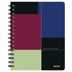 Caiet de birou LEITZ Executive, PP, A5, 80 coli, cu spira, dictando, negru-violet