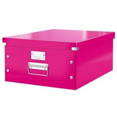 Cutie LEITZ Click & Store mare 369 x 200 x 484 mm, carton laminat - roz