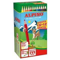Creioane colorate, cutie carton, 144 buc/cutie, Alpino Festival