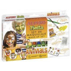 Set ALPINO Fiesta - Animals, 6 culori x 5gr. make up sticks