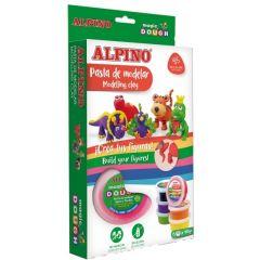 Kit 6 culori x 40gr. plastelina magica, ALPINO Magic Dough - Funny Animals