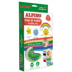 Kit 6 culori x 40gr plastilina magica, ALPINO Day & Night